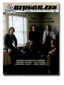 Cover of Bluegrass Magazine Oct 1986